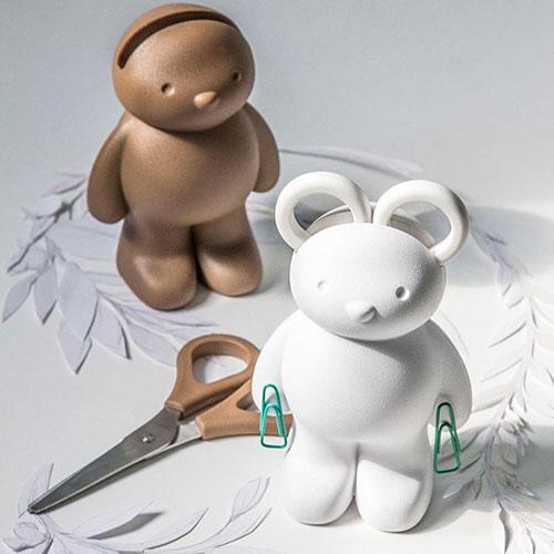 Держатель для ножниц и скрепок Qualy Teddy Bear, фото