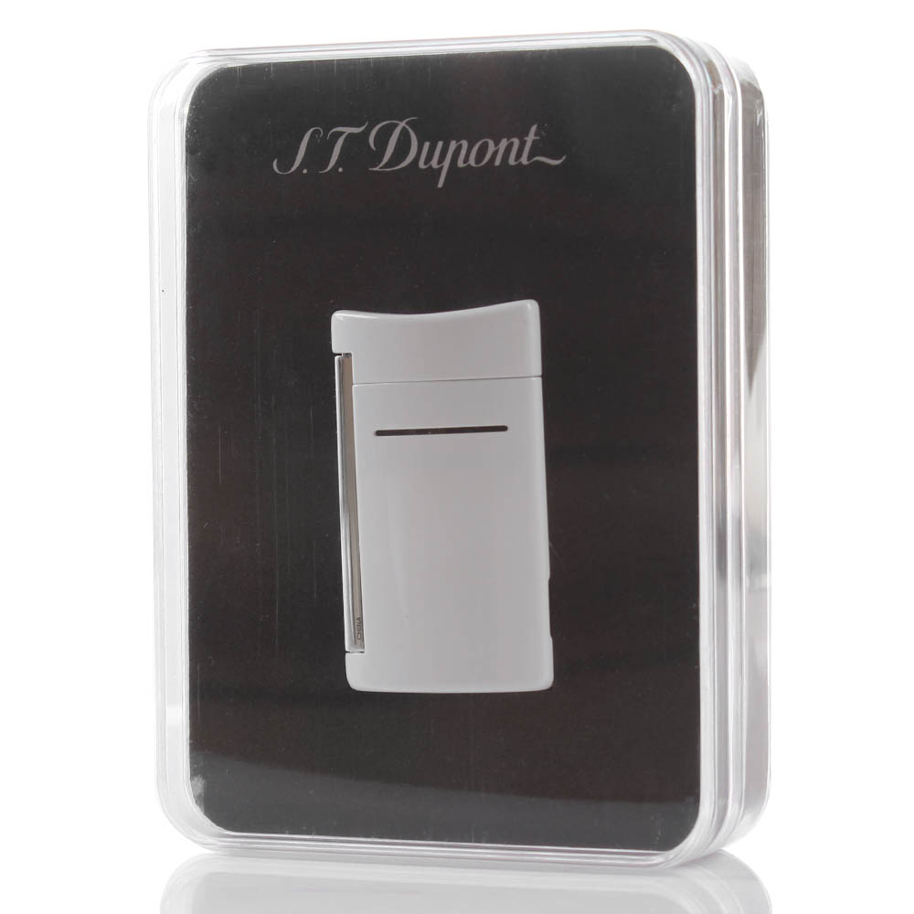 Зажигалка S.T.Dupont MINI JET OPTIC WHITE
