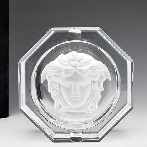Хрустальная пепельница Rosenthal Versace Medusa Lumiere, фото