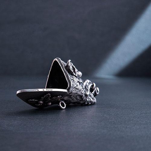Табачница ручной работы Оникс Кабан, фото