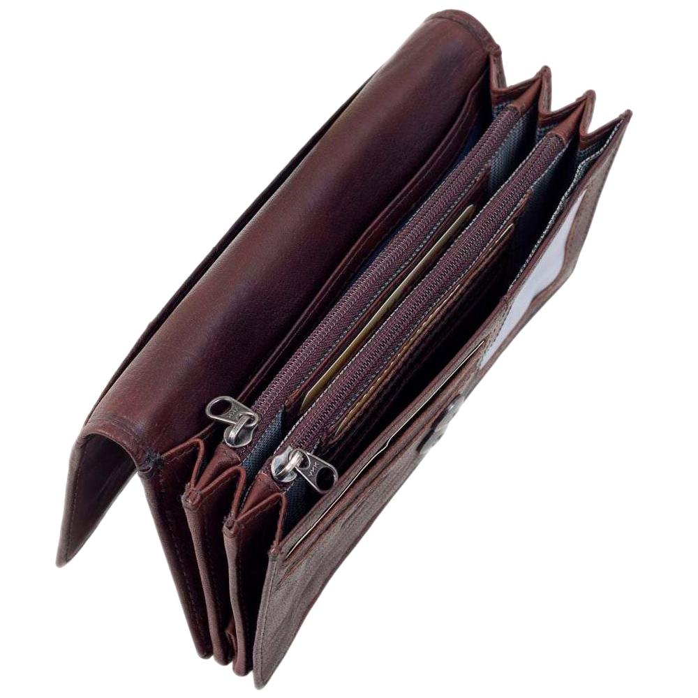 Портмоне женское Spikes&Sparrow темно-коричневого цвета