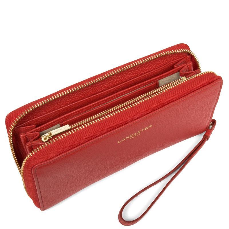 Красный кошелек Lancaster Dune из фактурной кожи