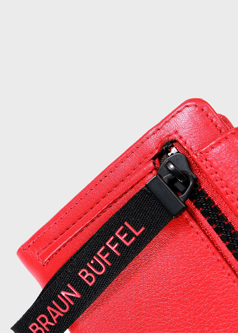 Красное портмоне Braun Bueffel Capri из зернистой кожи