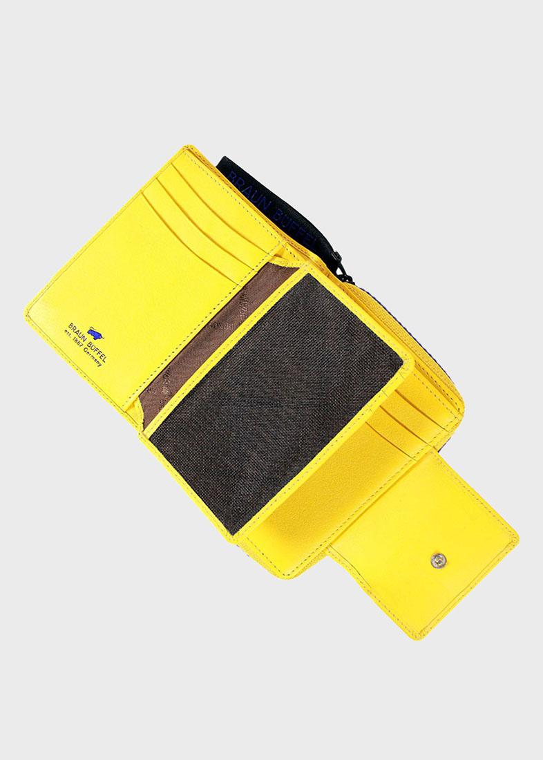 Желтое портмоне Braun Bueffel Capri из мелкозернистой кожи