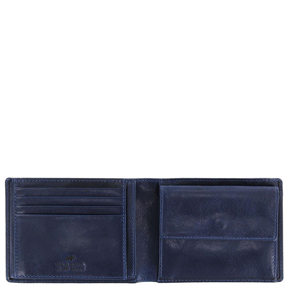 Портмоне Braun Büffel Arezzo синего цвета с RFID-защитой