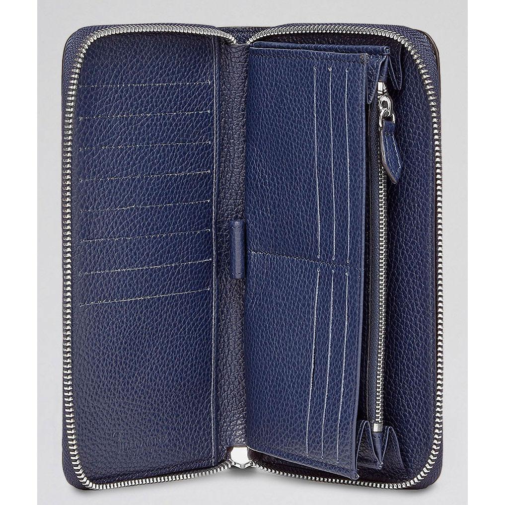 Синий кошелек Billionaire с квадратным значком