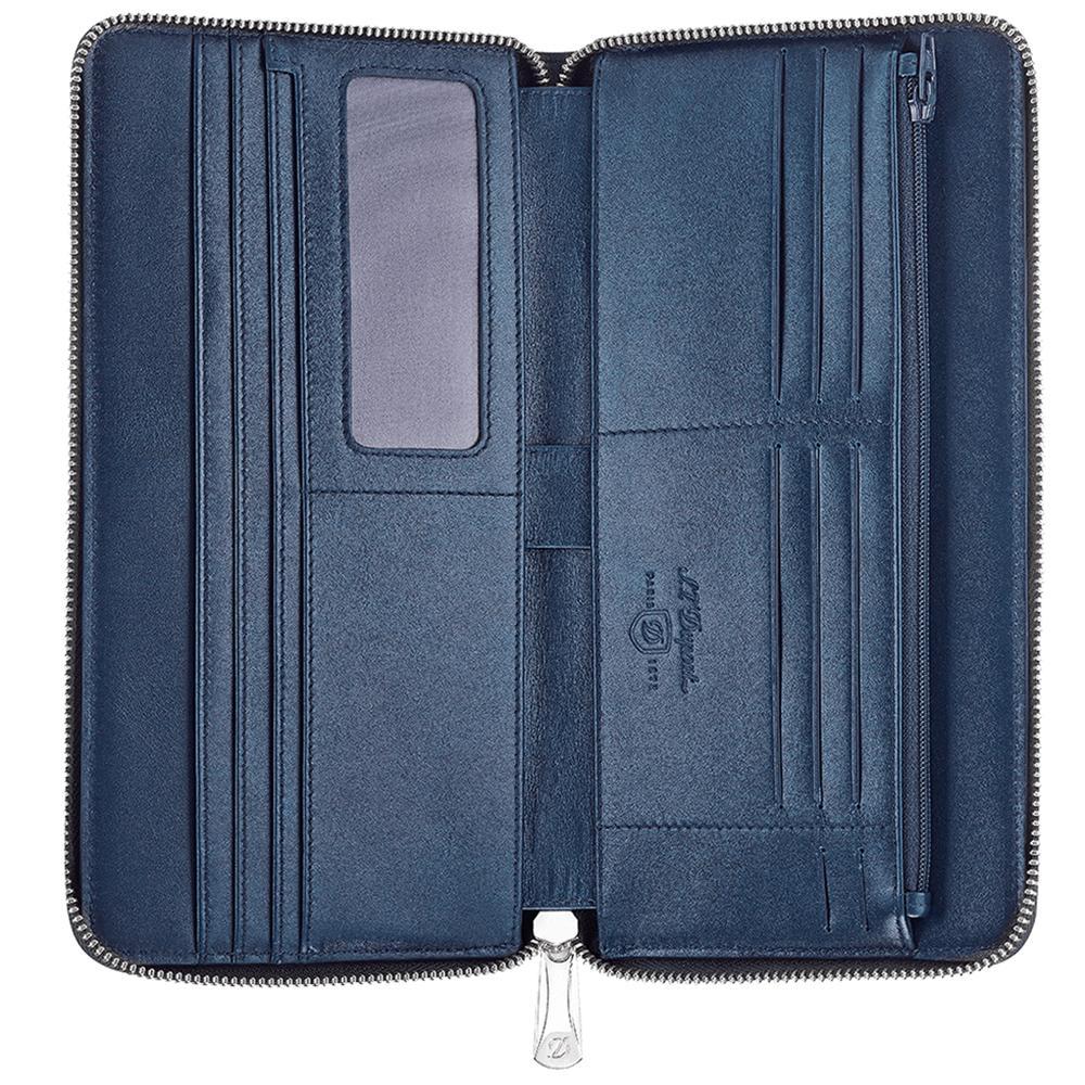 Синий кошелек S.T.Dupont Soft Diamont Graine