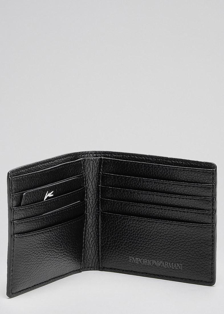 Портмоне Emporio Armani черного цвета с логотипом