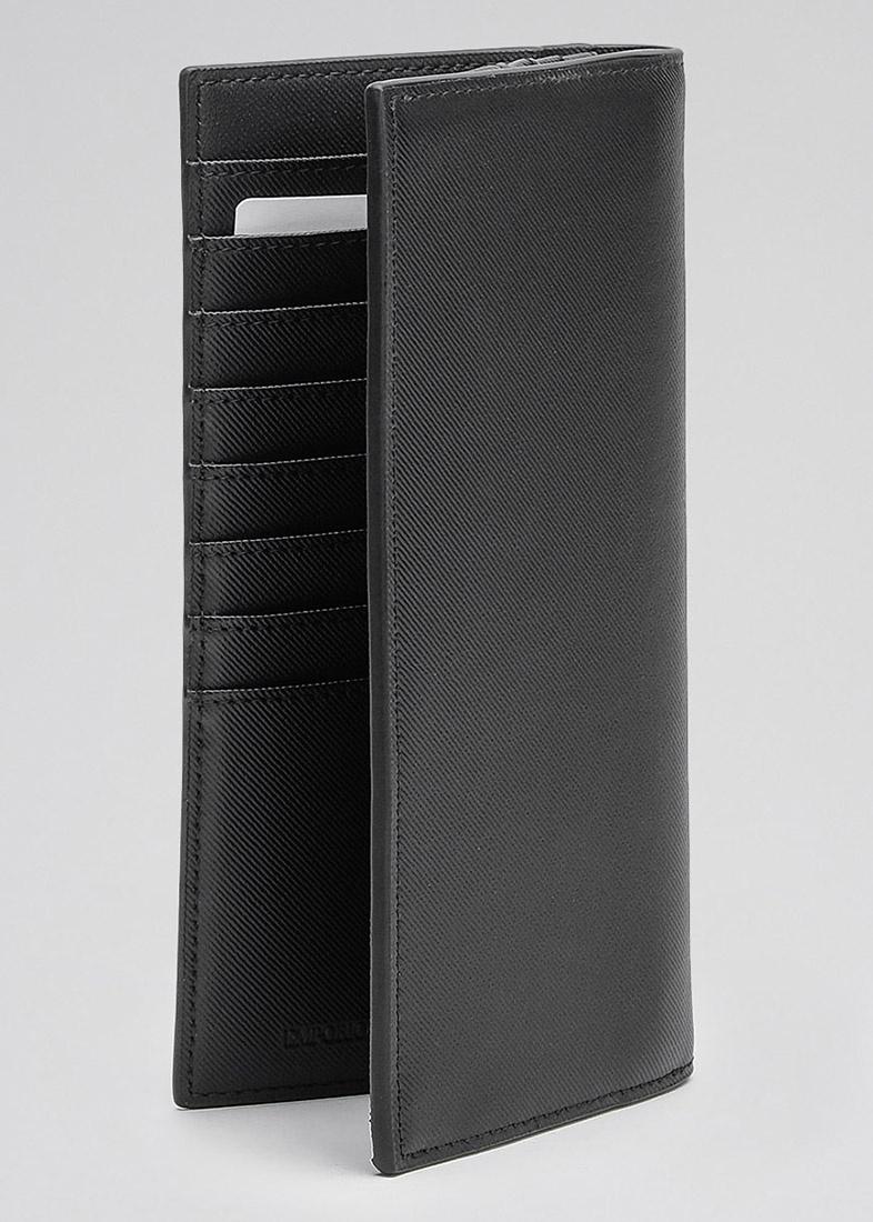 Высокое портмоне Emporio Armani с тиснением в виде логотипа