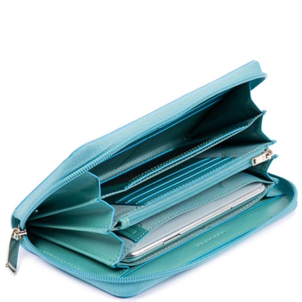 Голубое портмоне Piquadro BL Square