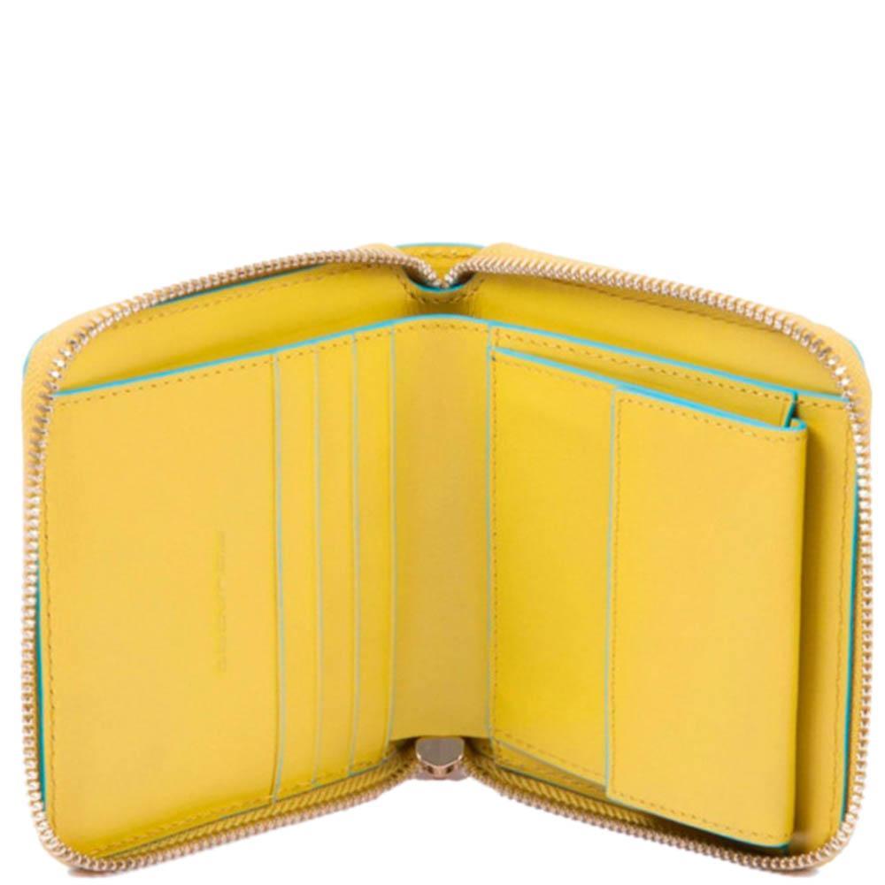 Женское портмоне Piquadro BL Square желтого цвета