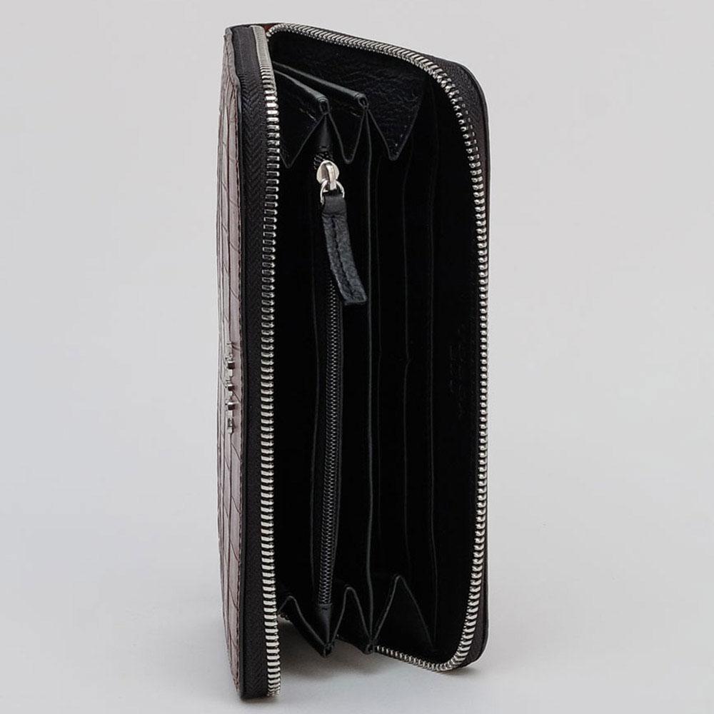 Бордовый кошелек Tosca Blu с принтом под рептилию