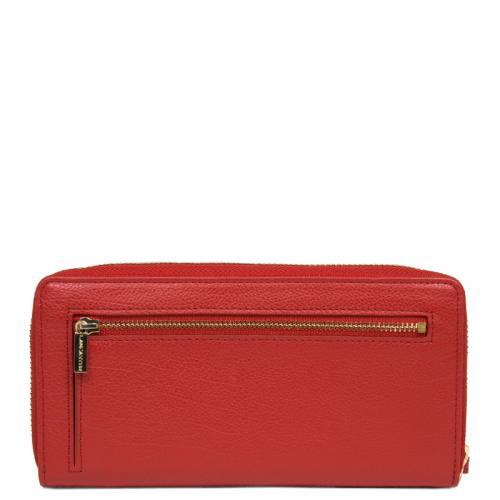 Красный кошелек Lancaster Dune из фактурной кожи, фото