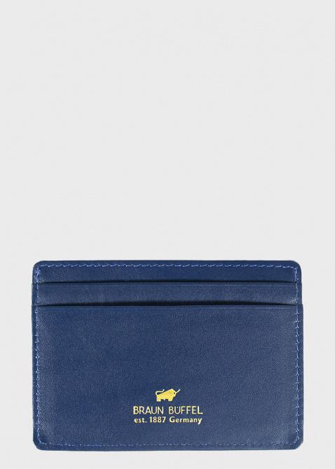 Синий кардхолдер Braun Bueffel Verona с тиснением кроко, фото