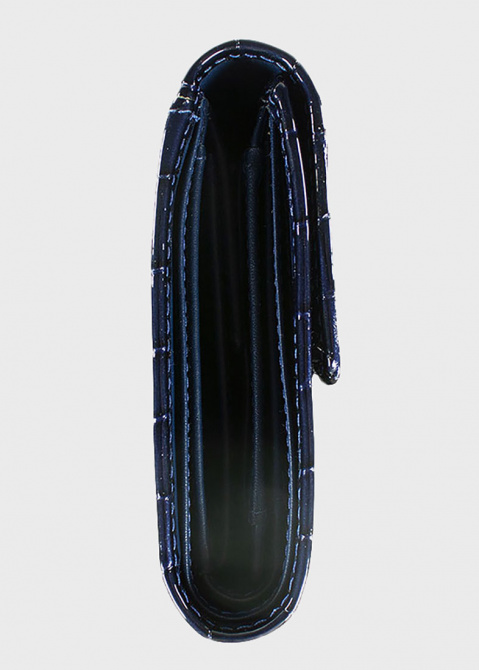 Синее портмоне Braun Bueffel Verona с тиснением под рептилию, фото