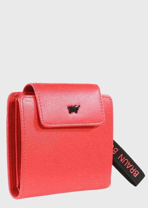 Красное портмоне Braun Bueffel Capri из зернистой кожи, фото