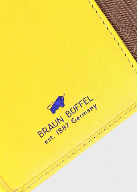 Желтое портмоне Braun Bueffel Capri из мелкозернистой кожи, фото