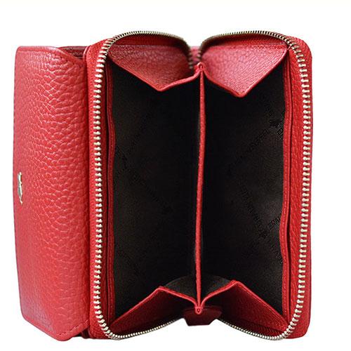 Портмоне Braun Bueffel Asti из кожи красного цвета, фото