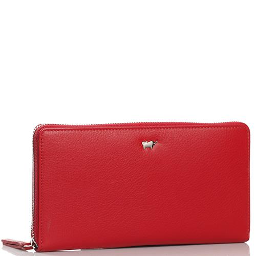 Женский кошелек Braun Bueffel Miami на молнии красного цвета, фото