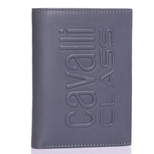 Мужское портмоне Cavalli Class Bullet Man серого цвета, фото
