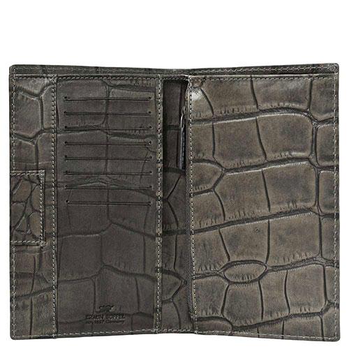 Портмоне Braun Büffel Lisboa серого цвета с внутренним карманом на молнии, фото