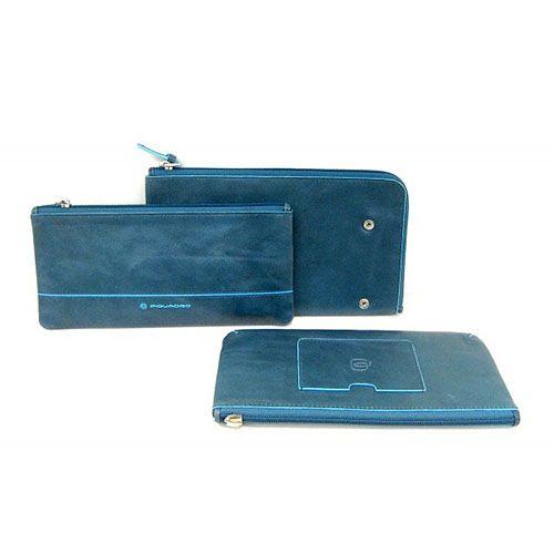 Мульти-портмоне Piquadro Blue square на молнии с 3 отделениями, фото