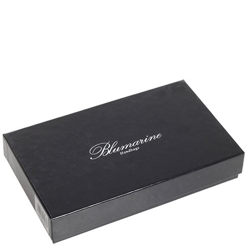 Портмоне Blumarine B Signature розовое с принтом, фото
