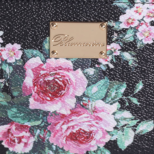 Черный кошелек Blumarine Lara с цветочным принтом, фото