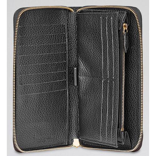 Черный кошелек Billionaire с золотым логотипом, фото