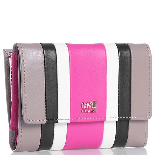 Складной кошелек Cavalli Class Phoebe с цветными полосами, фото