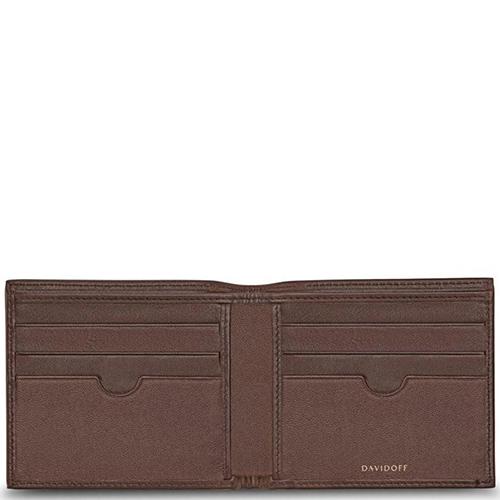 Портмоне Davidoff Essentials из коричневой кожи, фото