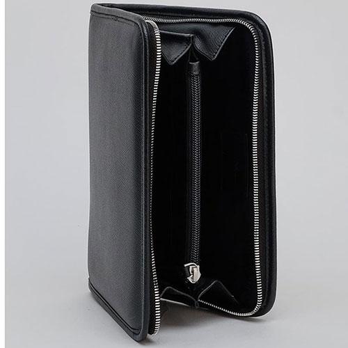 Портмоне черного цвета Emporio Armani с ручкой-петлей, фото