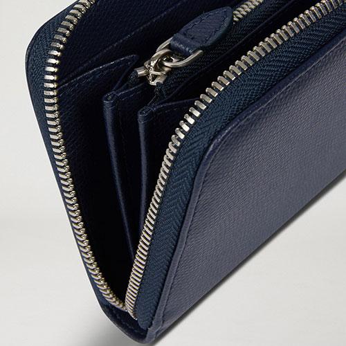 Синий кошелек Emporio Armani из зернистой кожи, фото