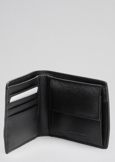 Черное портмоне Emporio Armani с брелоком, фото