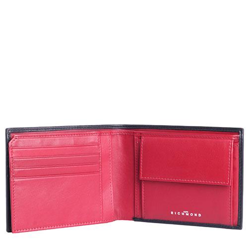 Черно-красное портмоне John Richmond Mick Jagger с отделением для документов, фото