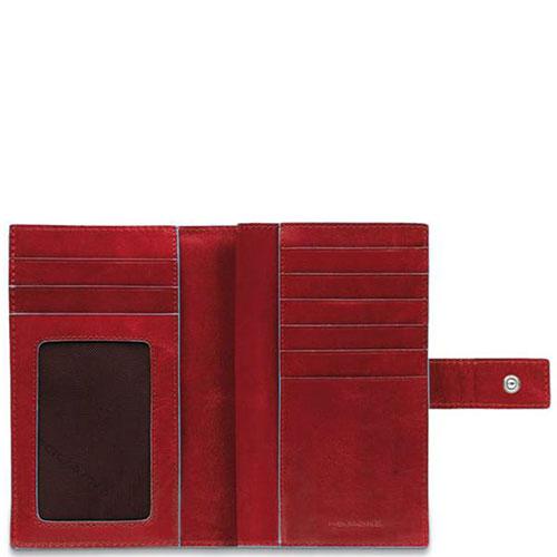 Портмоне Piquadro Bl Square с отделением для монет красного цвета , фото