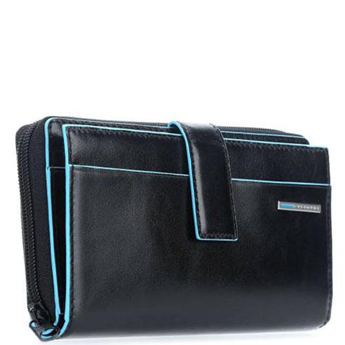 Портмоне Piquadro Bl Square с RFID защитой черного цвета, фото
