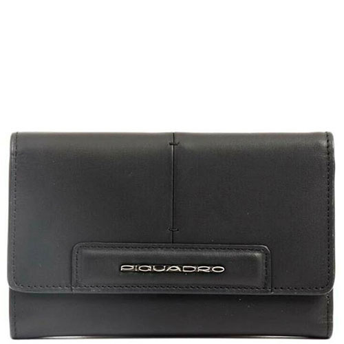 Портмоне Piquadro Splash с отделением для 18 кредитных карт черного цвета, фото