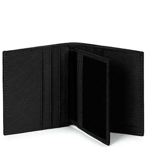 Кредитница Piquadro Bk Square с RFID защитой черного цвета, фото