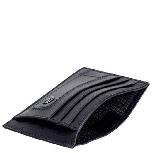 Кредитница Piquadro Bk Square черного цвета с RFID защитой , фото