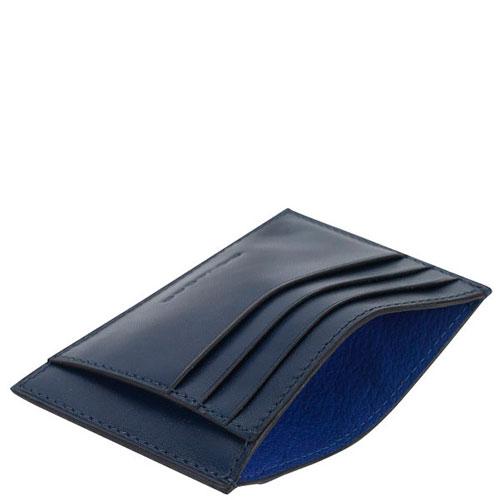 Кредитница Piquadro Bold синего цвета, фото