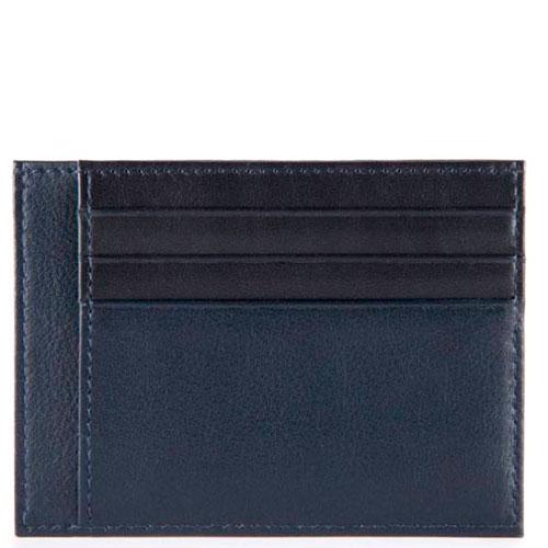 Кредитница Piquadro Urban с RFID защитой в синем цвете, фото