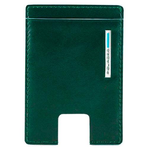 Кредитница Piquadro Bl Square с RFID защитой зеленого цвета, фото