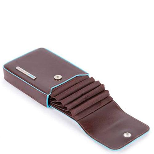 Кредитница Piquadro Bl Squareс RFID защитой коричневого цвета , фото