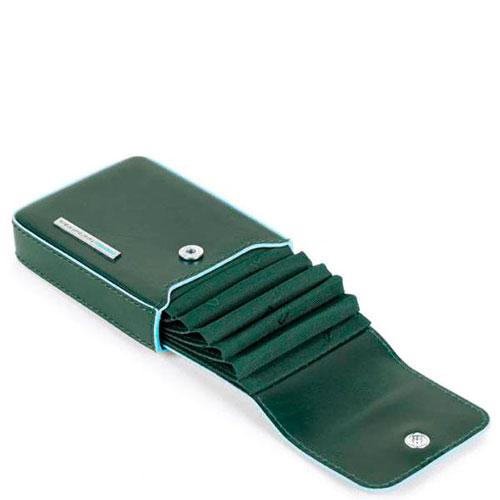 Зеленая кредитница Piquadro Bl Square с RFID защитой , фото