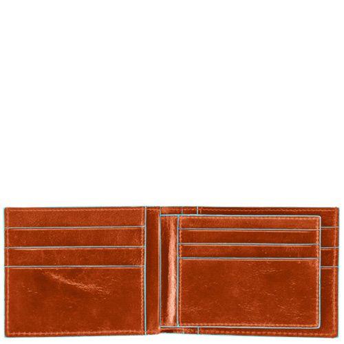 Портмоне Piquadro Blue square горизонтальное с отделением для 9 кредитных карт, фото
