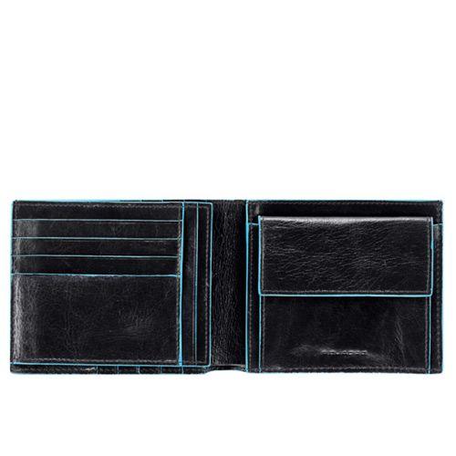 Портмоне горизонтальное с монетницей Piquadro Blue square, фото