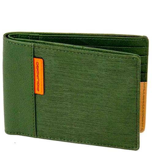 Портмоне Piquadro Blade зеленого цвета, фото