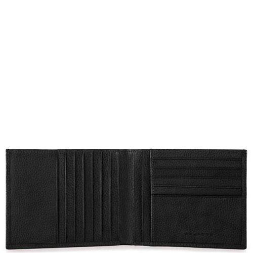 Портмоне Piquadro Pulse с отделением для 12 кредитных карт черного цвета, фото
