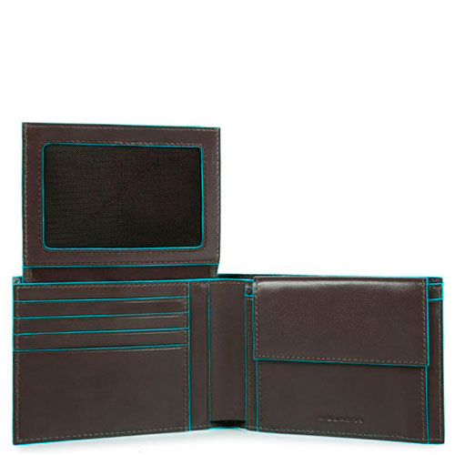 Мужской портмоне Piquadro Bl Square серого цвета, фото